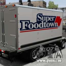 Nouvelles publicités pour le camion, Mule pour GTA 4 est une gauche