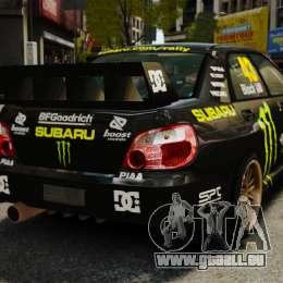 Subaru Impreza WRX STI GD Gymkhana Ken Block für GTA 4 hinten links Ansicht