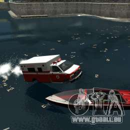 Ambulance boat pour GTA 4 est un droit