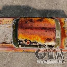 Chevrolet Bel Air 1957 Rusty für GTA 4 rechte Ansicht
