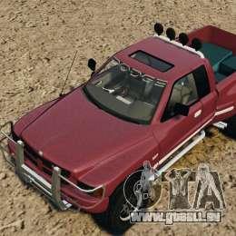 Dodge Ram 2500 Army 1994 v1.1 für GTA 4 Unteransicht