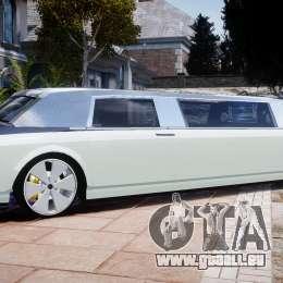 Rolls Royce Phantom Sapphire Limousine Disco für GTA 4 linke Ansicht