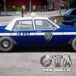Chevrolet Impala Police 1983 [Final] für GTA 4 hinten links Ansicht