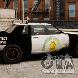 Polizei Färbung für eine rostige Sabre für GTA 4 linke Ansicht