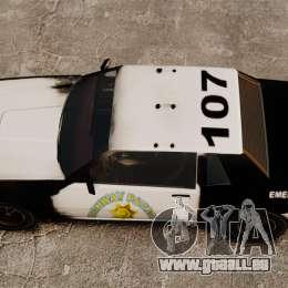 Polizei Färbung für eine rostige Sabre für GTA 4 rechte Ansicht