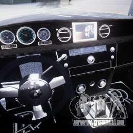 Rolls Royce Phantom Sapphire Limousine Disco für GTA 4 Rückansicht