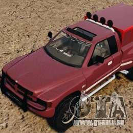 Dodge Ram 2500 Army 1994 v1.1 pour GTA 4 vue de dessus
