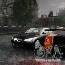 BMW M5 e60 Emre AKIN Edition pour GTA 4 est une vue de l'intérieur