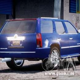 Cadillac Escalade [Beta] pour GTA 4 vue de dessus