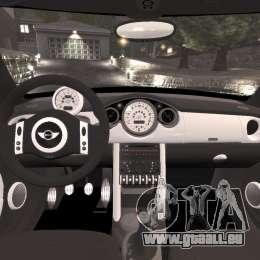 Mini Cooper S v1.3 für GTA 4 Rückansicht