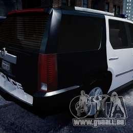 Cadillac Escalade Police V2.0 Final pour GTA 4 Vue arrière de la gauche