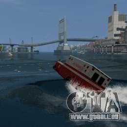 Ambulance boat pour GTA 4 est une gauche