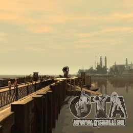 Surfbrett für GTA 4 Rückansicht