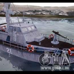 Russian PT Boat pour GTA 4 Vue arrière de la gauche