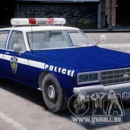Chevrolet Impala Police 1983 [Final] pour GTA 4 est une gauche