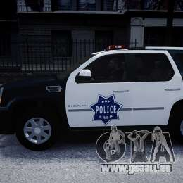 Cadillac Escalade Police V2.0 Final für GTA 4 linke Ansicht