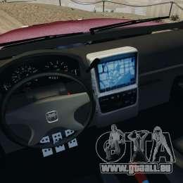 Dodge Ram 2500 Army 1994 v1.1 pour GTA 4 est une vue de l'intérieur
