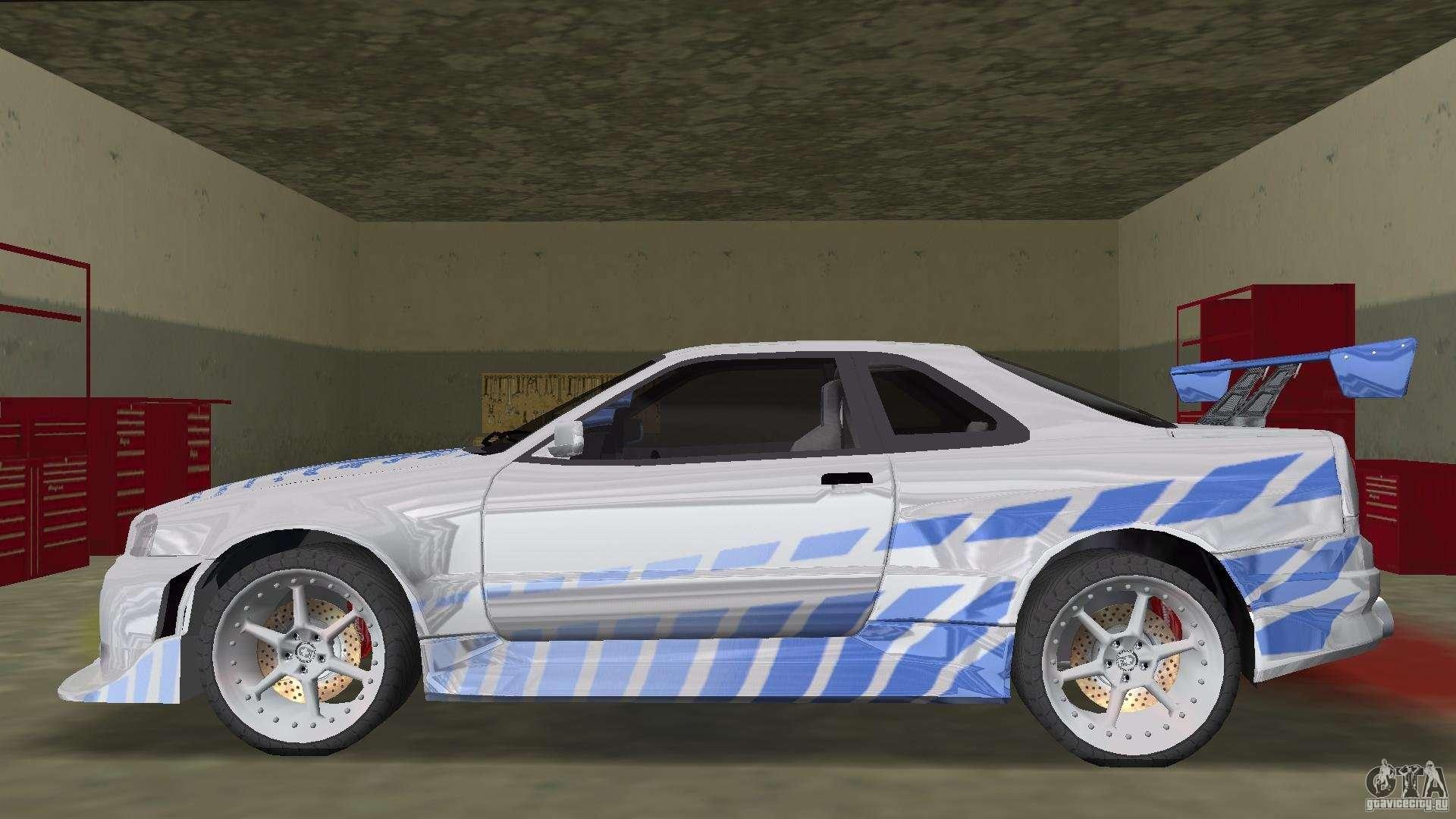 Nissan Skyline R 34 2fast2furious Pour Gta Vice City