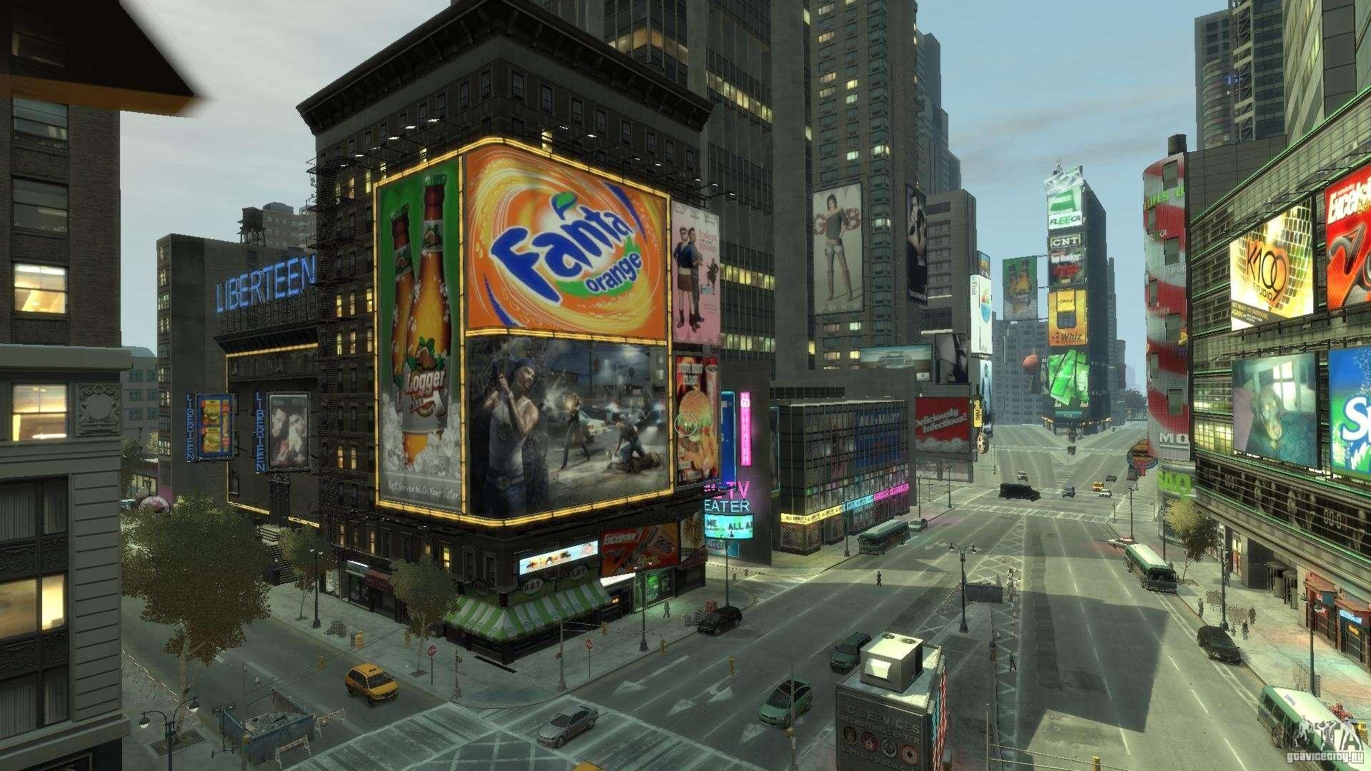 Real time square mod pour gta 4 for Photo ecran times square