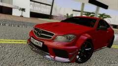 Mercedes Benz C63 AMG Black Series 2012 pour GTA San Andreas