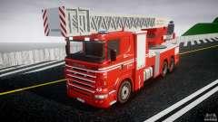 Scania Fire Ladder v1.1 Emerglights blue [ELS]