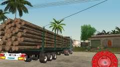 Le transporteur de bois remorque KRONE