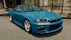 Nissan Skyline R34 2002 v1.1 pour GTA 4