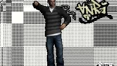 PED in Jeans und Jacke