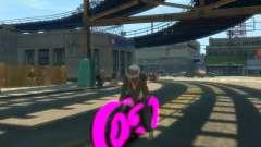Moto du trône (néon rose)