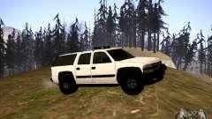 Chevrolet Suburban белый pour GTA San Andreas