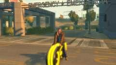 Motorrad des Throns (neongelb)