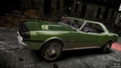 Chevrolet Camaro RS/SS 396 1968 pour GTA 4