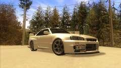 Nissan Skyline GT-R BNR34 Tunable für GTA San Andreas