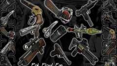 Große Packung von Waffen