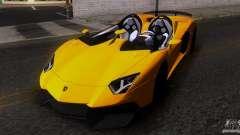 Lamborghini Aventador J TT Black Revel pour GTA San Andreas