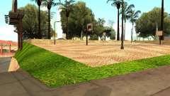 Dem neuen Basketballplatz in Los Santos