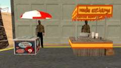 Neuen Hotdog-Verkäufer