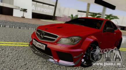 Mercedes Benz C63 AMG Black Series 2012 für GTA San Andreas