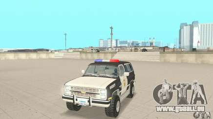 Chevrolet Blazer Sheriff Edition für GTA San Andreas