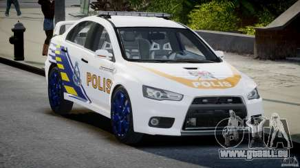 Mitsubishi Evolution X Police Car [ELS] für GTA 4