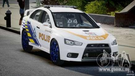 Mitsubishi Evolution X Police Car [ELS] pour GTA 4