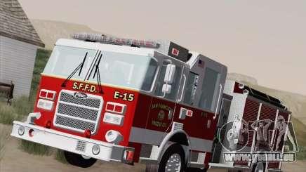 Pierce Pumpers. San Francisco Fire Departament pour GTA San Andreas