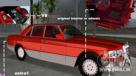 Mercedes-Benz W126 500SE pour GTA Vice City