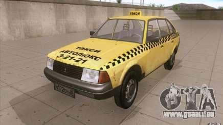2141 Moskvitch AZLK Taxi v2 pour GTA San Andreas