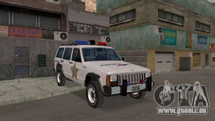 Jeep Cherokee Police 1988 pour GTA San Andreas