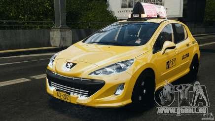 Peugeot 308 GTi 2011 Taxi v1.1 pour GTA 4
