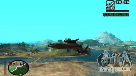 SR-71 Blackbird für GTA San Andreas