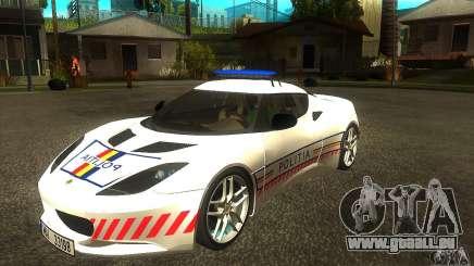 Lotus Evora S Romanian Police Car für GTA San Andreas
