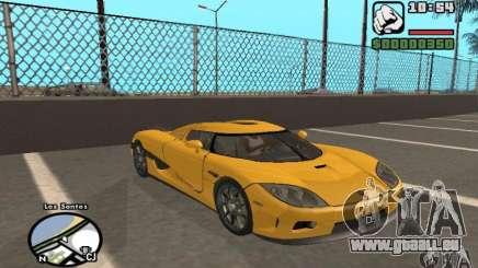 Koenigsegg CCX für GTA San Andreas