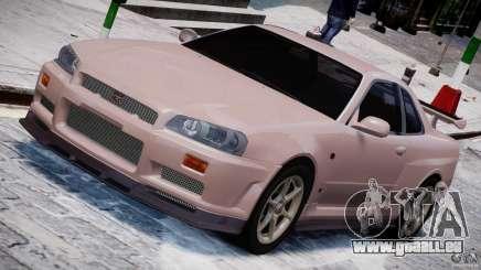 Nissan Skyline GT-R 34 V-Spec für GTA 4